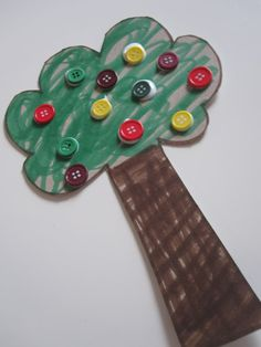 Button Apple Tree — Blog: Art Activities & Fun Crafts Project Ideas for Kids — FamilyEducation.com