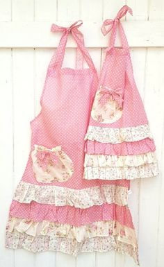 Toddler apron - mommy and me aprons vintage floral and polka dot mother and daughter apron hostess aprons pretty – Toddler apron Homemade Aprons, Toddler Apron, Childrens Aprons, Custom Aprons, Gardening Apron, Apron Designs, Aprons For Men, Sewing Aprons, Aprons Vintage