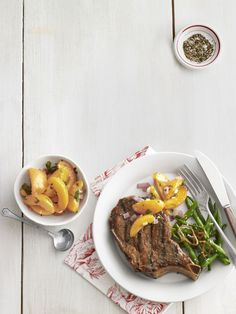 Grilled Pork Chop with Zesty Apricotscountryliving