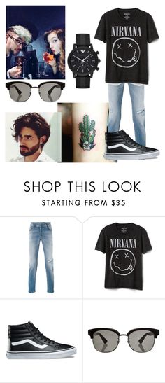 """""""If Wwishuu Were A Man"""" by wolfiplier ❤ liked on Polyvore featuring Diesel, Gap, Vans, Gucci, Emporio Armani, men's fashion and menswear"""
