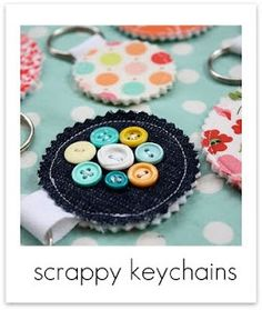 Scrap fabric key fob!  http://www.craftinessisnotoptional.com/2011/06/scrap-your-stash-guest-post-living-with.html