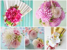 pink & white bouquet for kimono wedding 和装