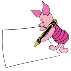 Piglet doing what The Nunu loves to do! Disney Frames, Disney Clipart, Winnie The Pooh Friends, Colored Paper, Disney Characters, Fictional Characters, Aurora Sleeping Beauty, Clip Art, Disney Princess