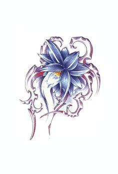 Iris for International Flowers design (France).