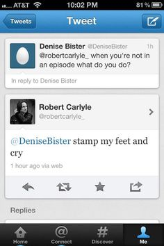 What a coincidence! That's what I do too when you're not in an episode, Rumple!!