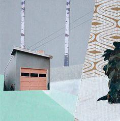"""Saatchi Art Artist Mairi Timoney; Collage, """"Suburban"""" #art"""