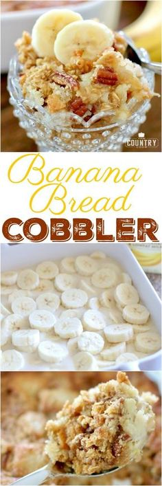 Southern Banana Bread Cobbler recipe from The Country Cook
