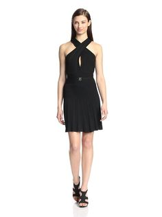 Versace Collection Women's Halter Open Back Dress, $229, down from $714. js
