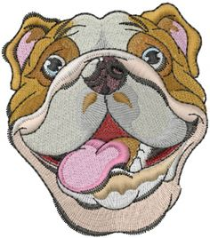 bulldog embroidery design free | 866−451−3900
