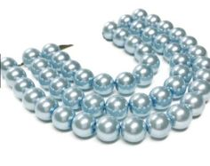 8mm Light Blue Glass Pearl Beads, Jewelry Making Beads,  Round beads 8mm, Crafting, Crafty, Glass Pearls, Glass Beads, Blue Pearls by vickysjewelrysupply. Explore more products on http://vickysjewelrysupply.etsy.com