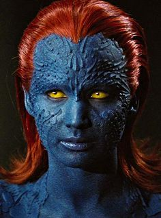 Featuring Jennifer Lawrence as the mutant Mystique in 'X-Men: First Class'. Marvel Women, Marvel Girls, Marvel X, Mystique Marvel, Comic Book Characters, Marvel Characters, Sfx Make-up, Mystique Costume, Jennifer Lawrence Hot