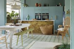 Sage Sprout Tile is part of Bert & May's handmade cement tile collection. Shop our range of quality tiles in plain or patterned styles, created using natural pigments. Kitchen Tiles, Kitchen Dining, Cooker Splashbacks, Simple Geometric Pattern, Geometric Patterns, Outdoor Tiles, Green Colour Palette, Tile Installation, Wet Rooms