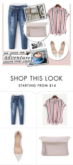 """""""SheIn 7/10"""" by melisa-hasic ❤ liked on Polyvore featuring Gianvito Rossi and Kate Spade"""