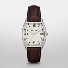 Want!    FOSSIL® New Arrivals Watches:New Arrivals Wallace Leather Watch - Brown ES3122