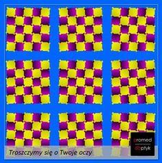 Czy ktoś w końcu ułoży te kwadraty! #optyk #optometrysta #okulary #iluzja #zabawa #fun #wzrok #oczy