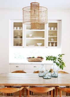 Portfolio - Becki Owens Idea for space between kitchen and dining room.