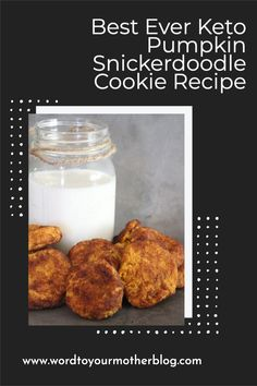 This keto pumpkin spice snickerdoodle cookie recipe is seriously everything you want, need, and love in a cookie that – big bonus – you can make in less than 30 minutes. Grab the recipe here! #wordtoyourmother #keto #easy #pumpkin #recipe #fall Healthy Recipes For Weight Loss, Good Healthy Recipes, Clean Eating Recipes, Keto Recipes, Healthy Snacks, Pumpkin Snickerdoodle Cookie Recipe, Pumpkin Spice Cookies, Best Crockpot Recipes, Fall Recipes