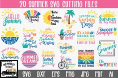 Summer Bundle (Graphic) by oldmarketdesigns · Creative Fabrica Free Svg Cut Files, Svg Files For Cricut, Playroom Quotes, Pe Design, Shilouette Cameo, Mug Art, File Image, Hello Summer, Svg Cuts
