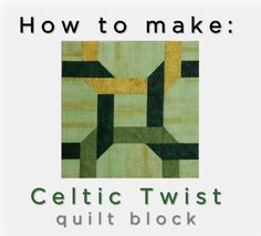 McCall's Quilting web editor Valerie Uland and photography stylist Ashley Slupe take you step-by-step through making the Celtic Twist Quilt Block, with tips for the stitch-and-flip technique. #quiltblock #quilting #howto #video