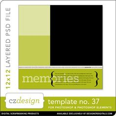 Cathy Zielske's Layered Template No. 037 - Digital Scrapbooking Templates