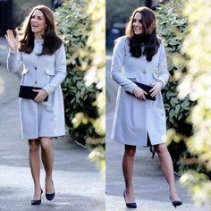 Catherine, Duchess of Cambridge arrives at Kensington Aldridge Academy on January 19, 2015 in London, England.