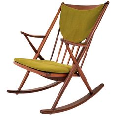 Frank Reenskaug Rocking Chair, Denmark | From a unique collection of antique and modern rocking chairs at http://www.1stdibs.com/furniture/seating/rocking-chairs/