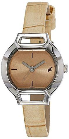 Fastrack Analog biege dial Women's Watch - http://brandedstore.in/product/fastrack-analog-biege-dial-womens-watch-6104sl02/