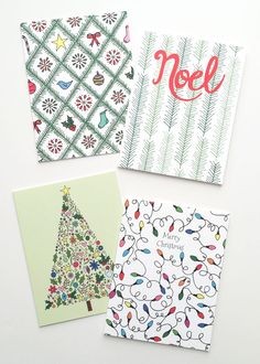 Best Selling Christmas Cards from Happy Cactus Designs. Available as singles or as boxed sets of 10 cards.