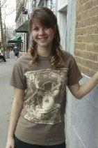 Women's T-shirt mocha - Short sleeve - spring style fashion @ Black Bear Trading Asheville N.C.