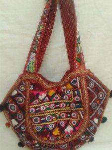 Vintage Pakistani Kuchi Embroidery Banjara Handbag-1