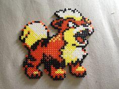 Pokémon #058 Growlithe HAMA BEADS