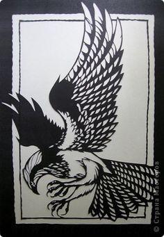 Картина панно рисунок Вырезание Osprey_Lois Cordelia Бумага фото 5