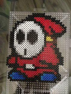 Shy guy Mario perler beads by S Sharda