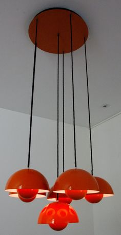 Original Verner Panton Flower Pot chandelier