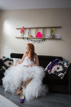 Hippe trouwjurk van Assepoester