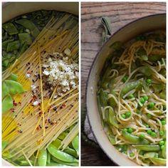 Three-Pea One-Pot Pasta | Family Bites