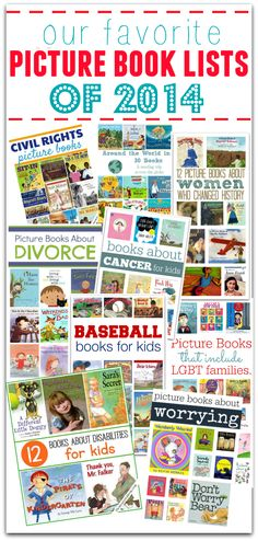 Best book lists of 2014 - so many important book lists for parents and kids.