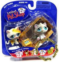 Kitten Figure 2-Pack Box Pet Pairs Littlest Pet Shop Hasbro Toys