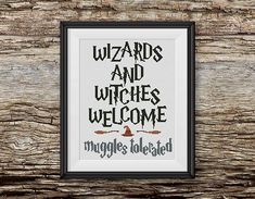 BOGO FREE Harry Potter Cross Stitch Pattern Wizards and