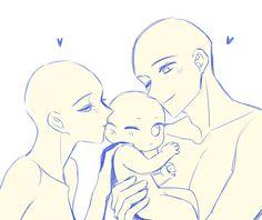 Art Drawings Sketches Simple, Cute Drawings, Drawing Ideas, Family Drawing, Drawing Templates, Drawing Reference Poses, Couple Poses Reference, Couple Poses Drawing, Drawing Base