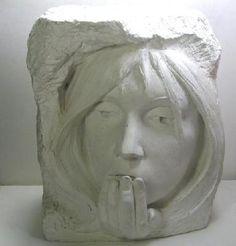 1982 Austin Production Woman's Face Sculpture