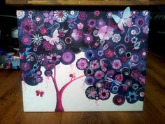 Button Tree with 3D butterflies! by TryingNotToHibernate, £45.00