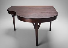 piano shaped dining table. :D