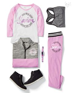 Ideas for sport outfit for kids Dance Outfits, Sport Outfits, Kids Outfits, Cool Outfits, Summer Outfits, Justice Shoes, Justice Clothing, Justice Outfits, Justice Stuff