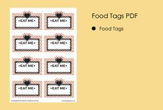 Mad Hatter Tea Party Ideas Mad Hatter Food Tags