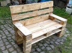 paletii din lemn Pallet Furniture, Outdoor Furniture, Outdoor Decor, Planters, Bench, Yard, Crafts, Home Decor, Spaces