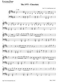 Free Chocolate-The 1975 Piano Sheet Music – Download & Print Free Chocolate-The 1975 Piano Chords (Music Score and Hand Numbered Musical Notation).