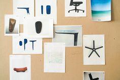 Schizzi preparatori per la Pacific Chair disegnata da Barber&Osgerby per Vitra