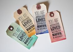 Make some pretty tags with this simple project.  52 Weeks Project.