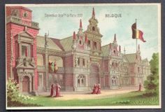 Belgique Exposition Universelle Paris 1878 Chromo Trade Card
